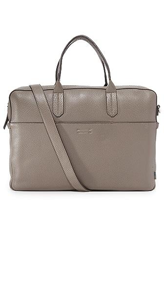 Uri Minkoff Pebbled Leather Liam Briefcase