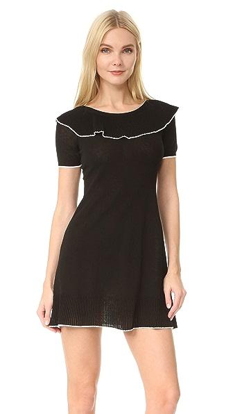 Boutique Moschino Short Sleeve Boat Neck Dress - Black