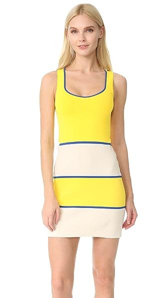Boutique Moschino Scoop Neck Dress - Fantasy Print Yellow