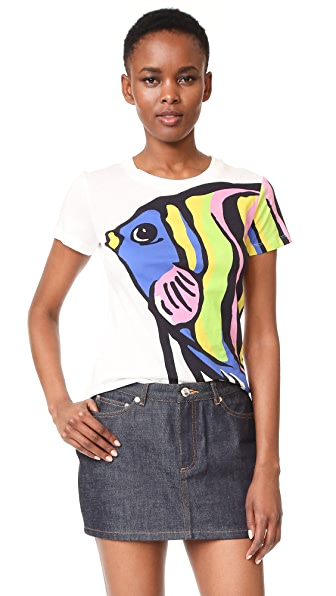 Boutique Moschino Short Sleeve Printed Top