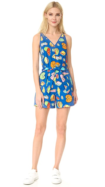Boutique Moschino Sleeveless Printed Romper