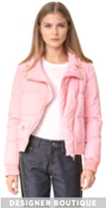 Cropped Moto Puffer Jacket Boutique Moschino
