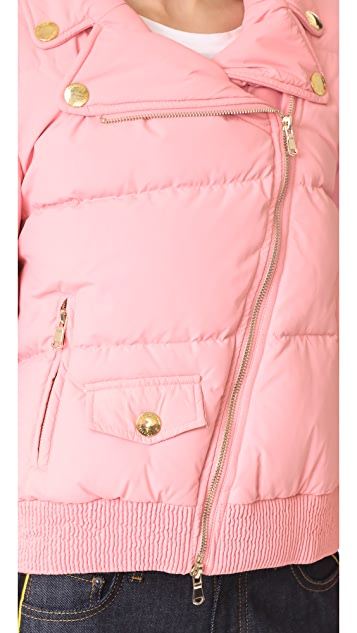 Boutique Moschino Cropped Moto Puffer Jacket