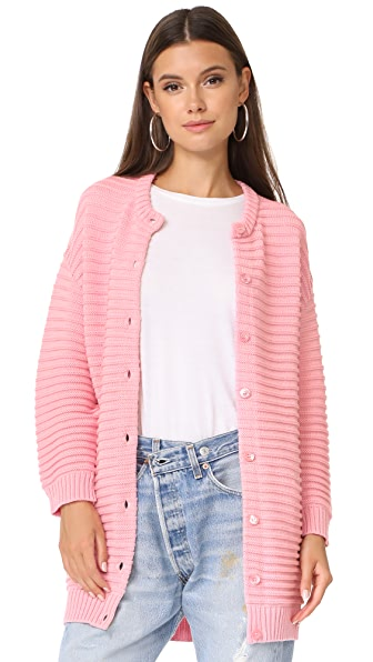 Boutique Moschino Long Sweater Cardigan - Pink