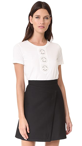 Boutique Moschino Short Sleeve Tee - White