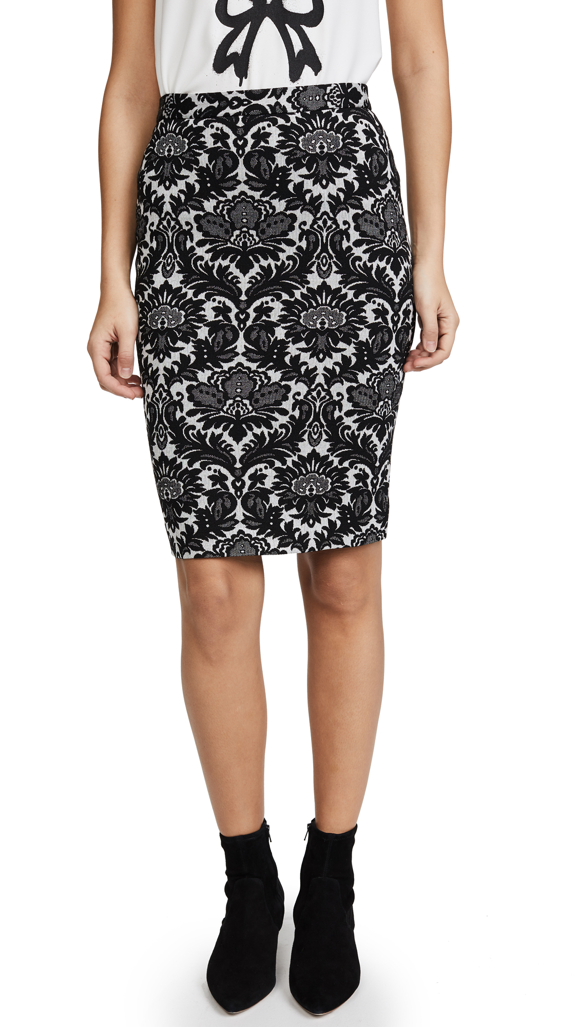 Boutique Moschino Pencil Skirt - Black Multi