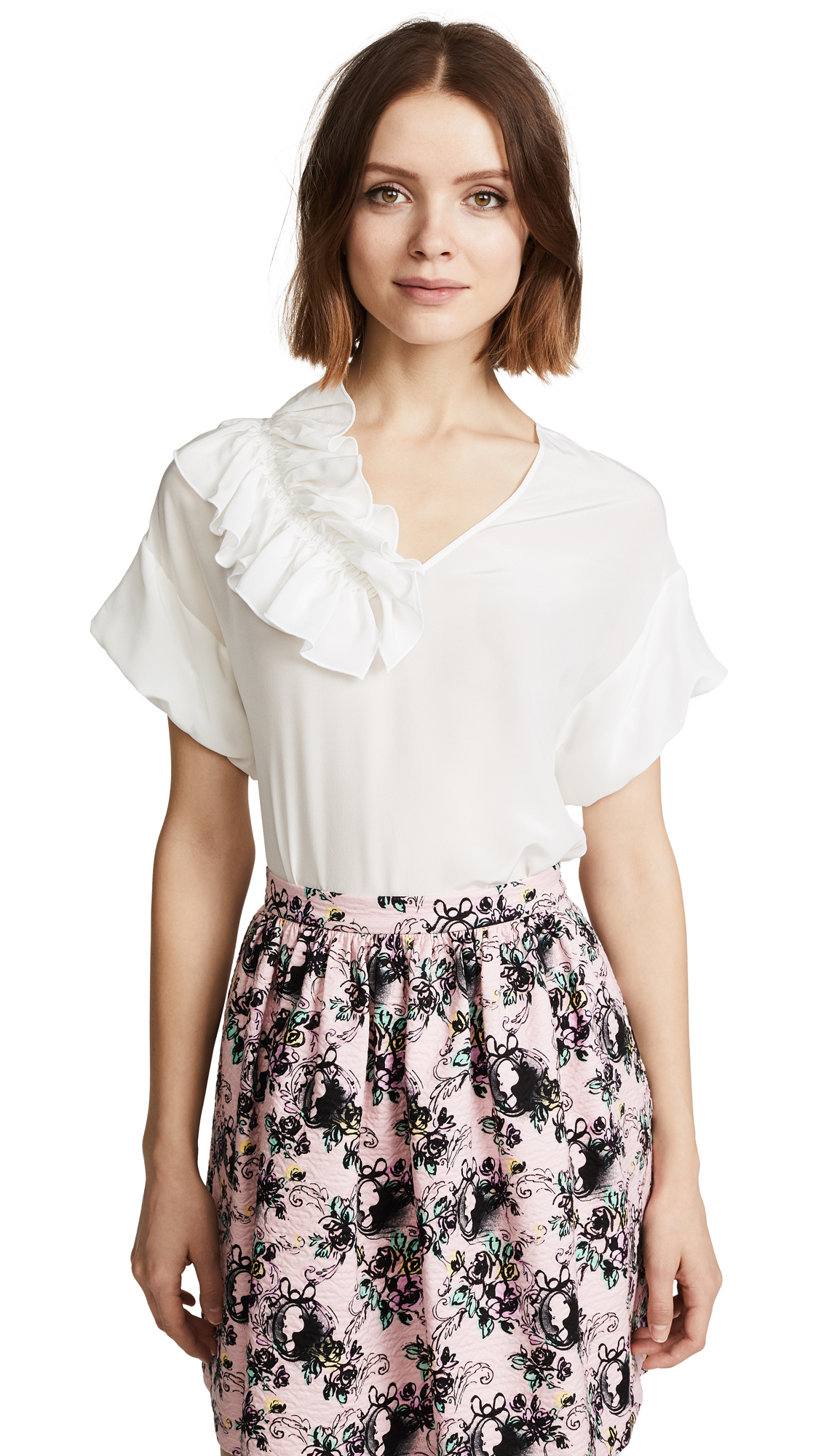 Boutique Moschino Ruffle Blouse - White