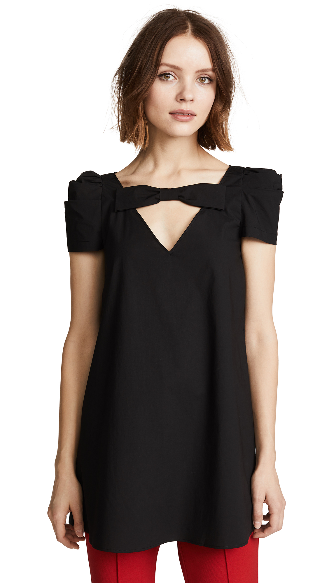 Boutique Moschino Bow Detail Blouse - Black