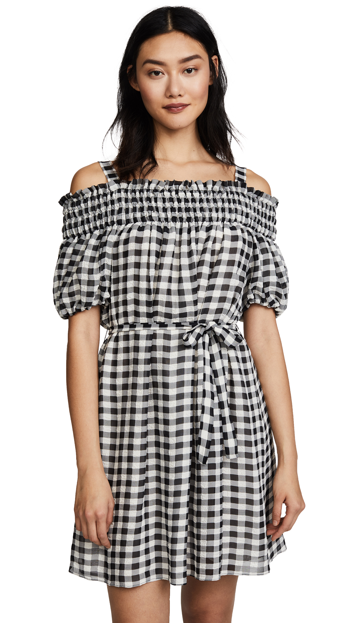 Boutique Moschino Gingham Dress - Black/White