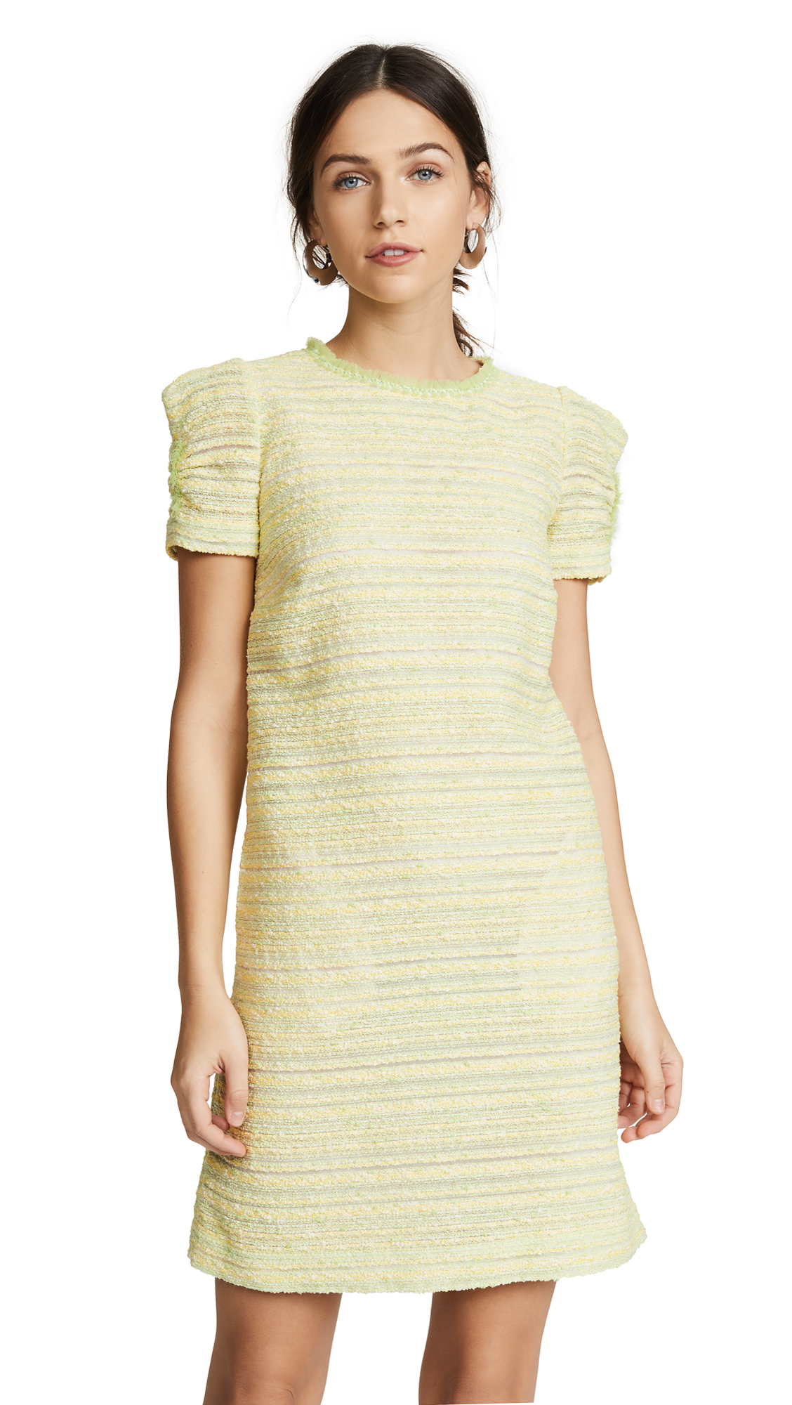 Boutique Moschino Tweed Short Sleeve Dress