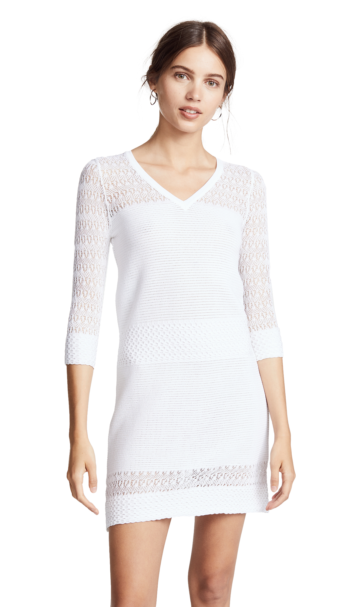 Boutique Moschino 3/4 Sleeve Crochet Dress