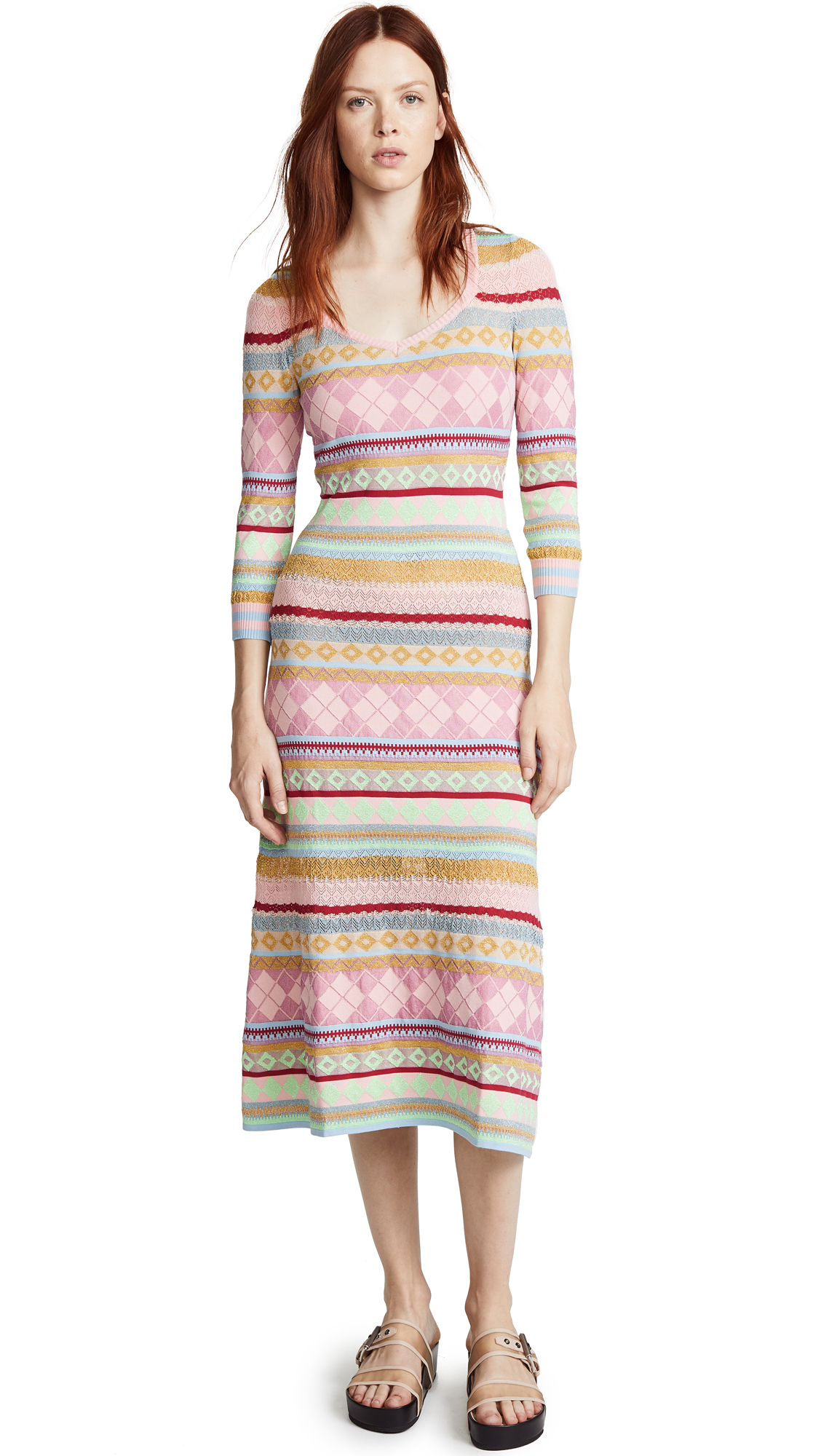 Boutique Moschino Patterned Midi Dress