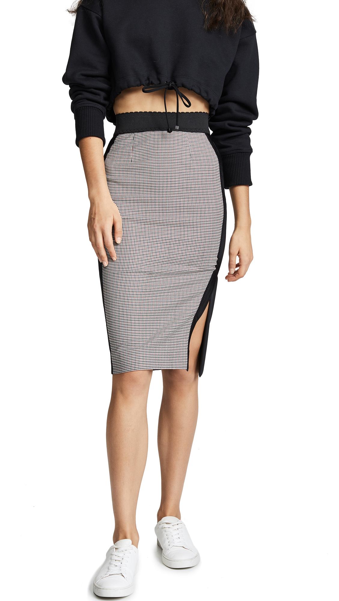 Boutique Moschino Two Tone Plaid Skirt - Plaid