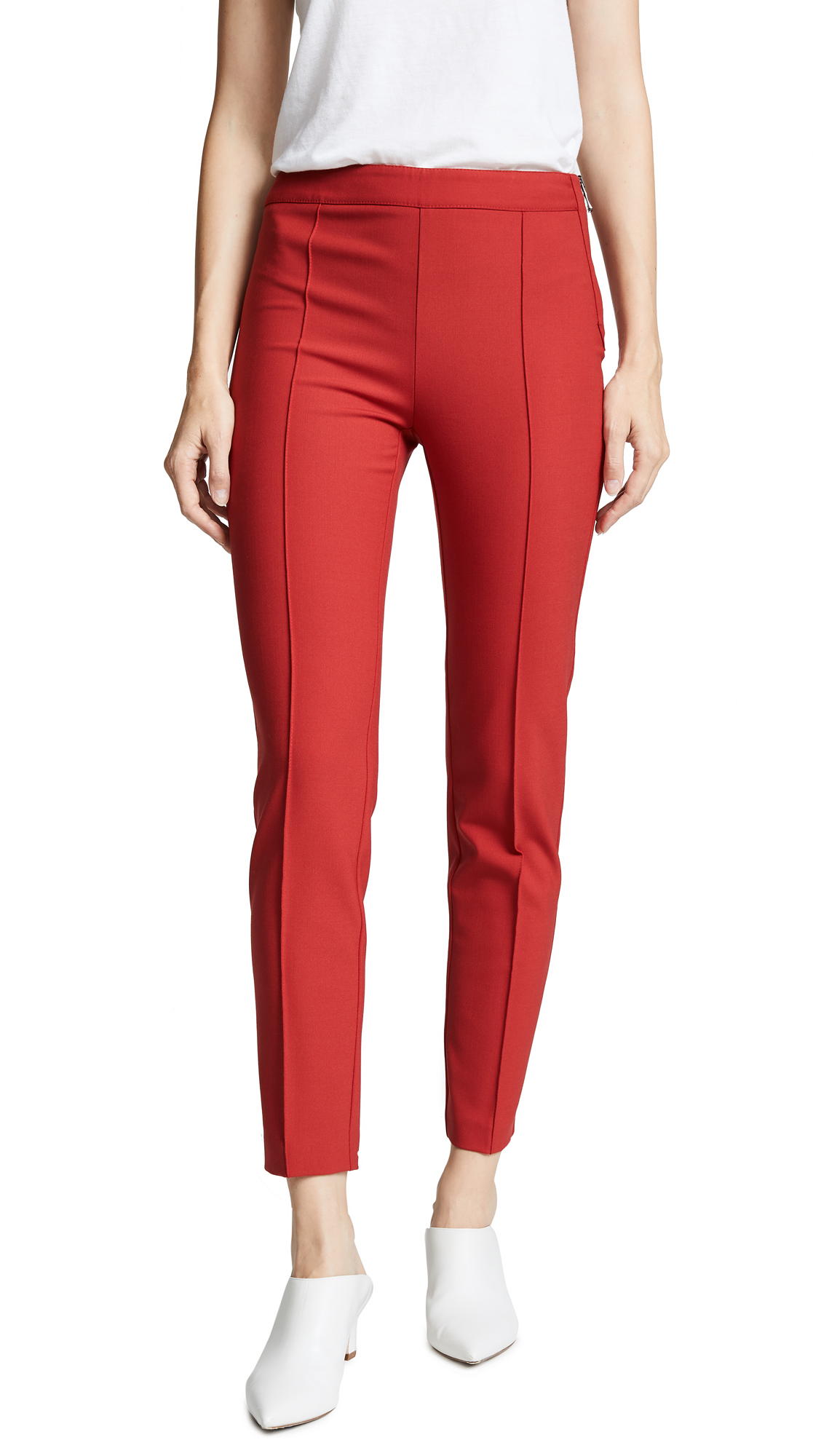 Boutique Moschino Straight Leg Pants - Red