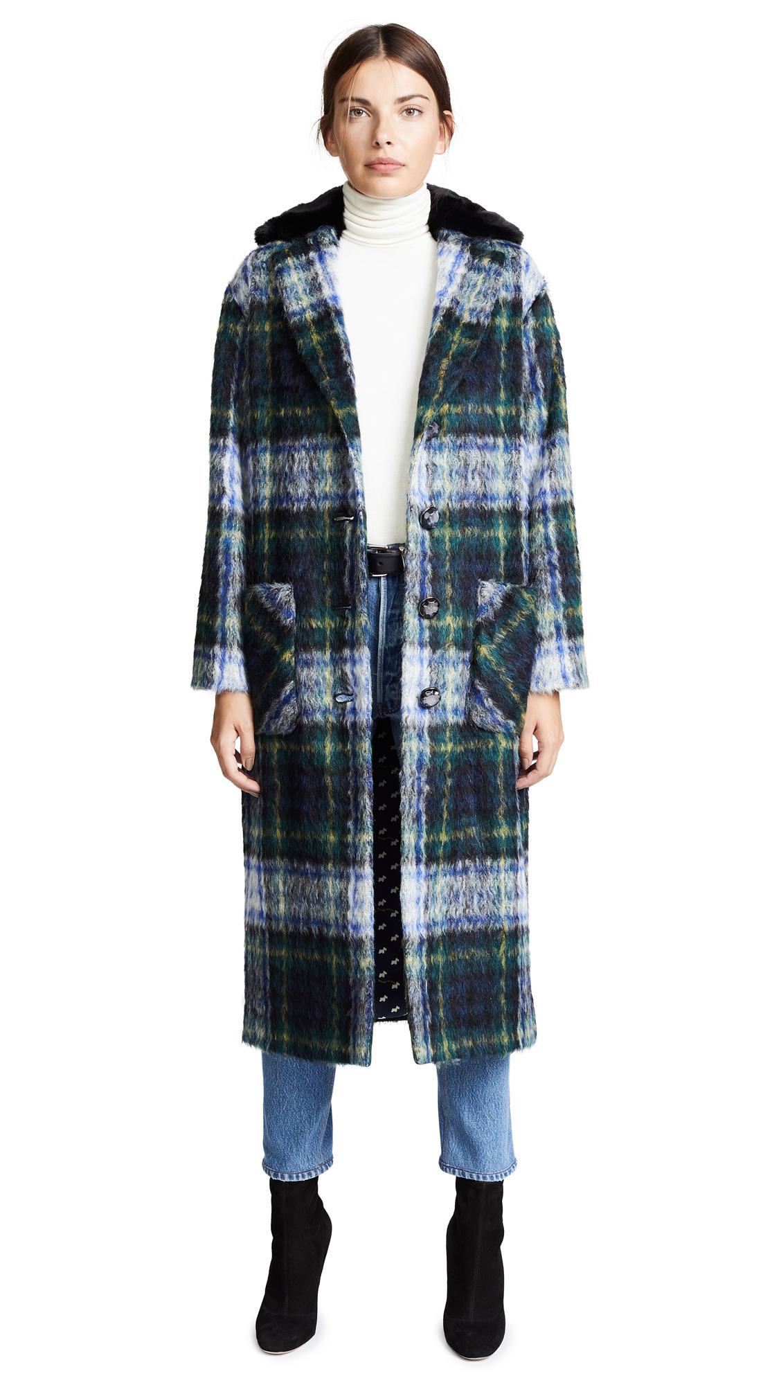 Boutique Moschino Plaid Coat