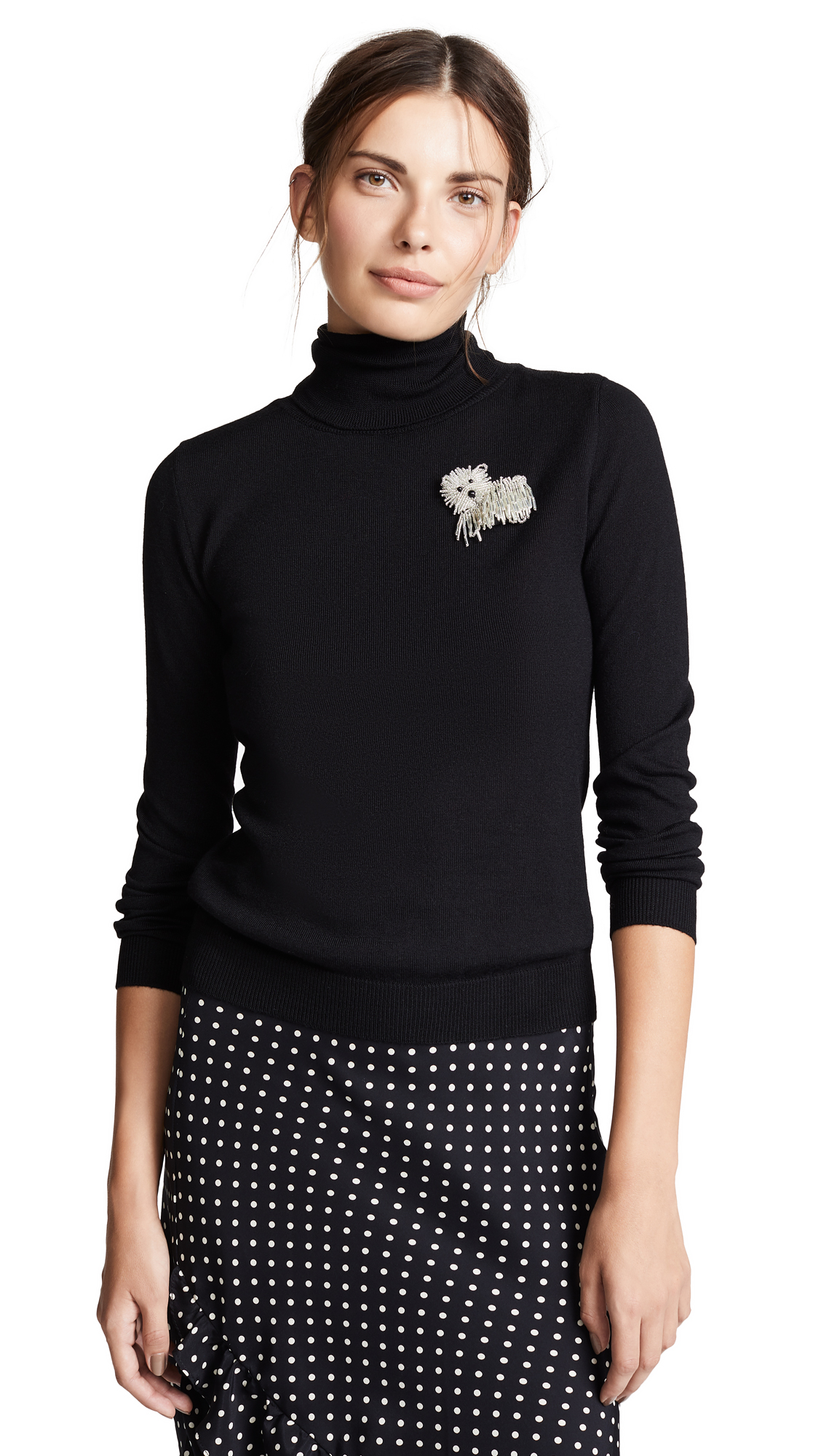 BOUTIQUE MOSCHINO Embroidered Sweater, Black