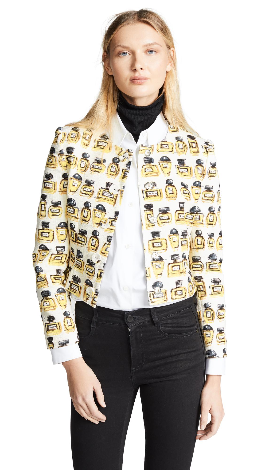 Boutique Moschino Perfume Print Jacket - White Multi