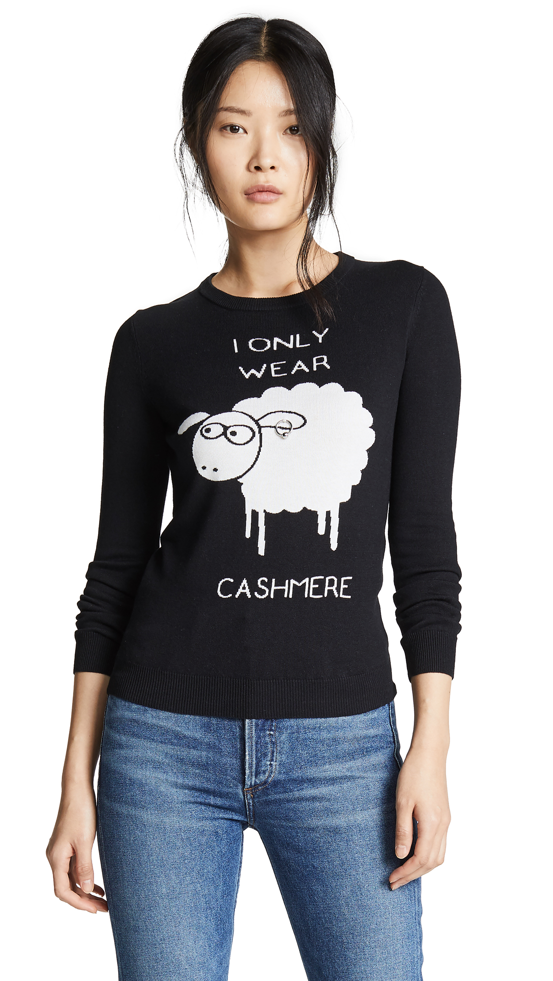 Boutique Moschino I Only Wear Cashmere Sweater - Black