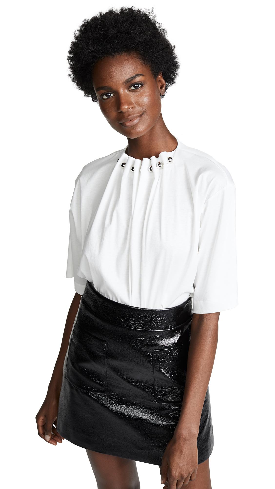 Boutique Moschino Metal Ball Collar Blouse - White