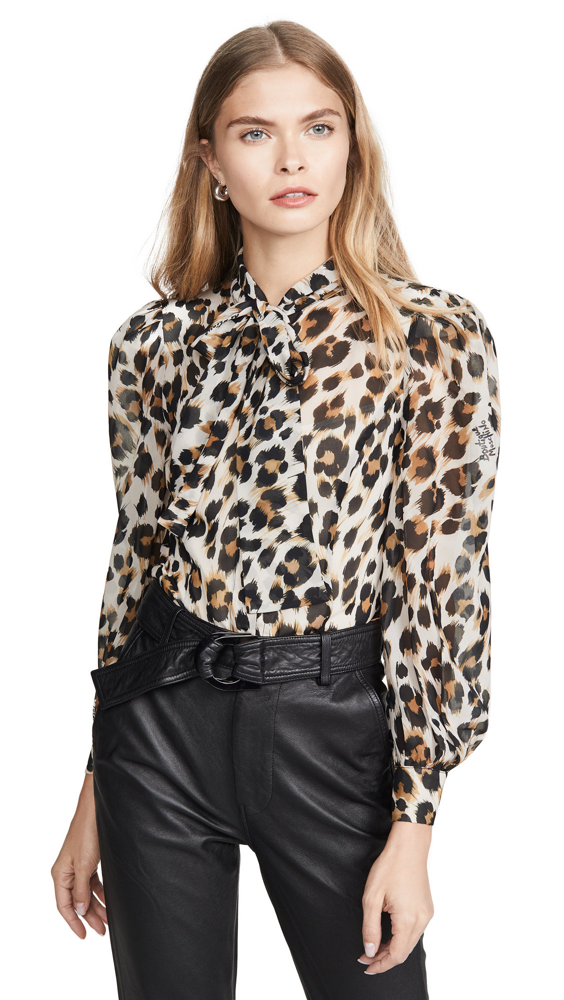 Boutique Moschino Leopard Blouse - Fantasy Print Ivory