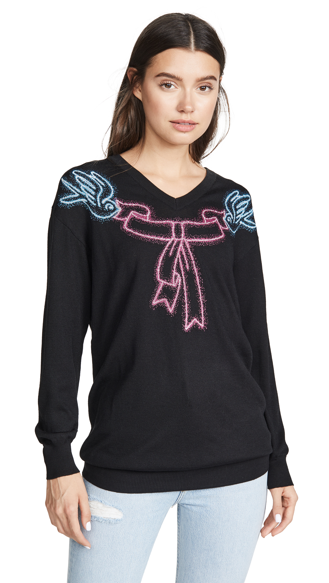 Buy Boutique Moschino online - photo of Boutique Moschino Long Sleeve Sweater Dress