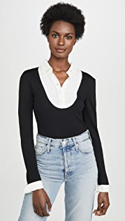 Boutique Moschino Collar Detail Sweater