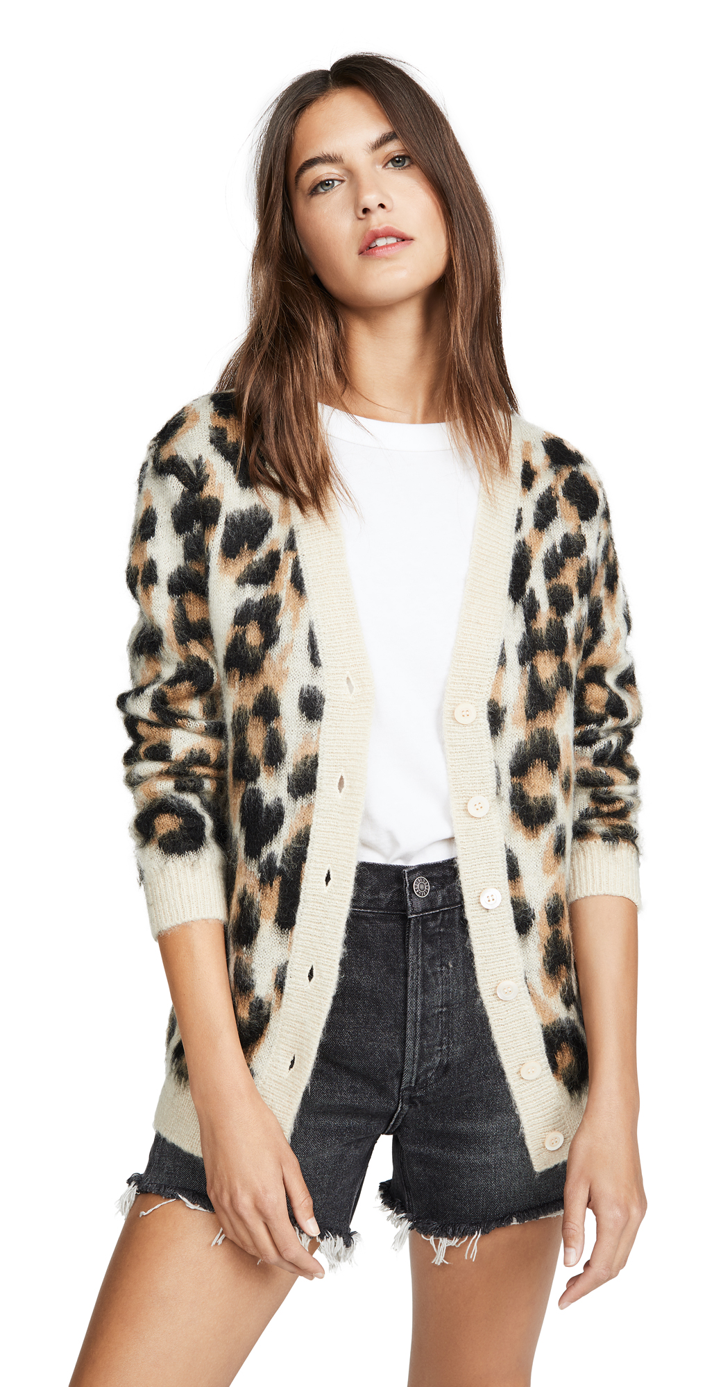 Boutique Moschino Leopard Cardigan | SHOPBOP