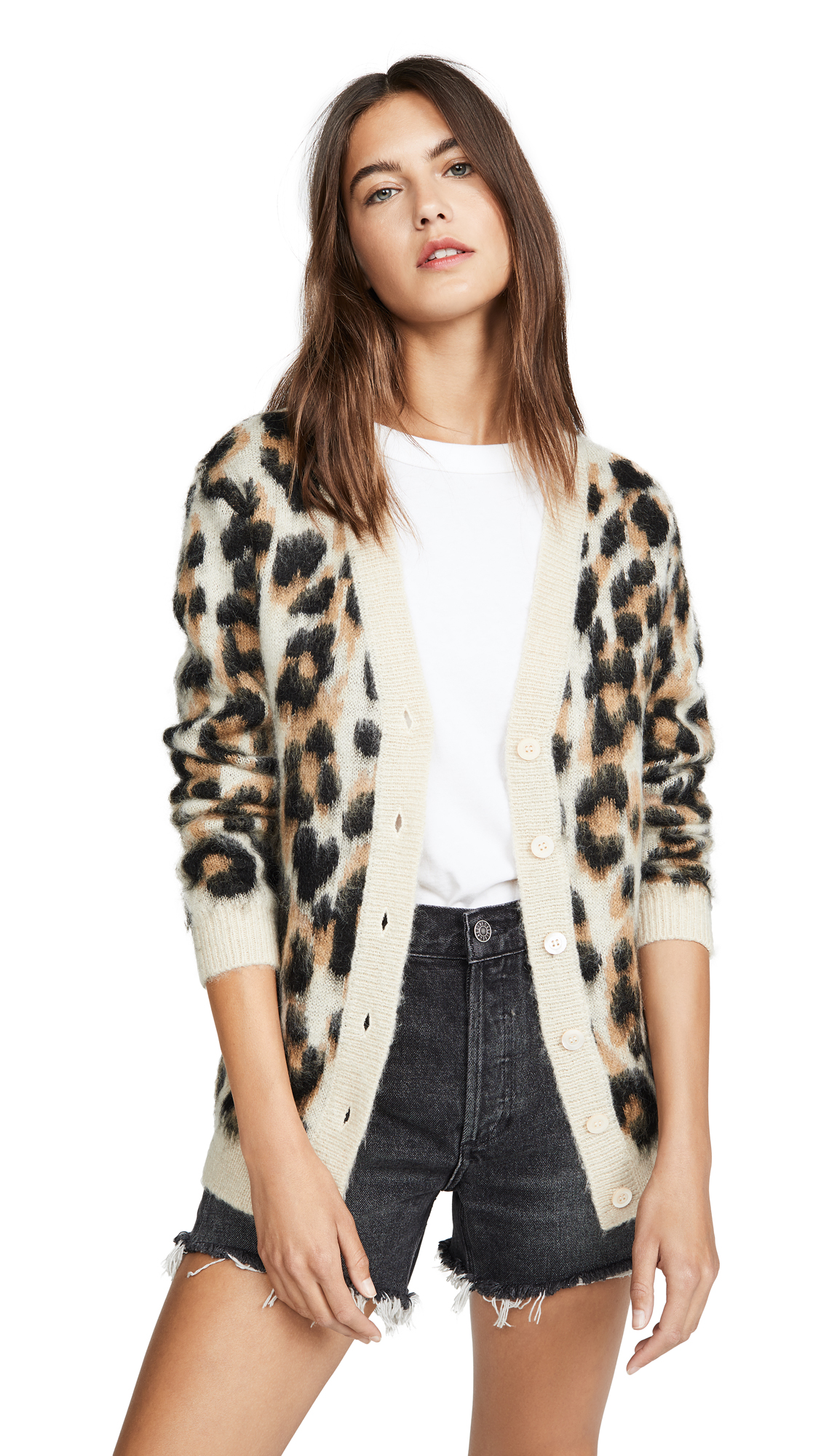 Buy Boutique Moschino online - photo of Boutique Moschino Leopard Cardigan