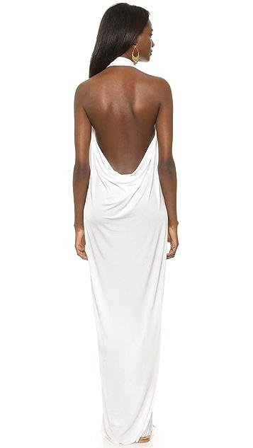 bobi Black Maxi Halter Dress