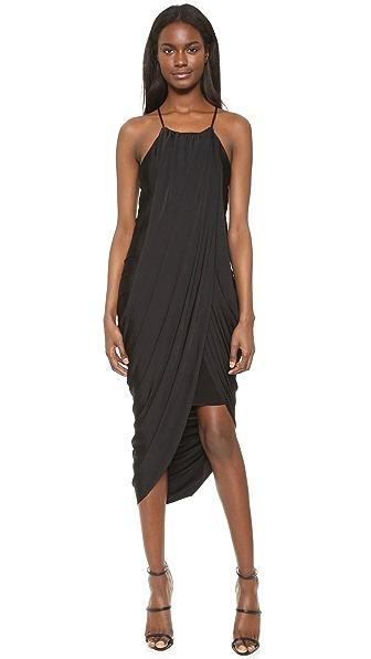 bobi Black Asymmetrical Dress