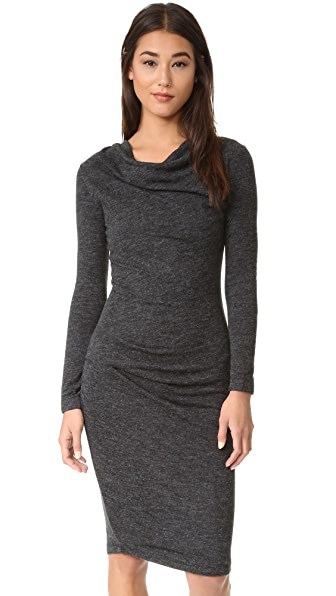 bobi Draped Dress - Black