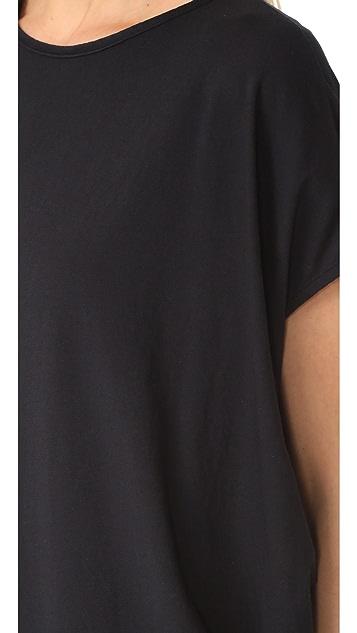 bobi Side Draped Asymmetrical Tunic