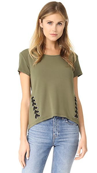 bobi Army Lace Up Tee In Army