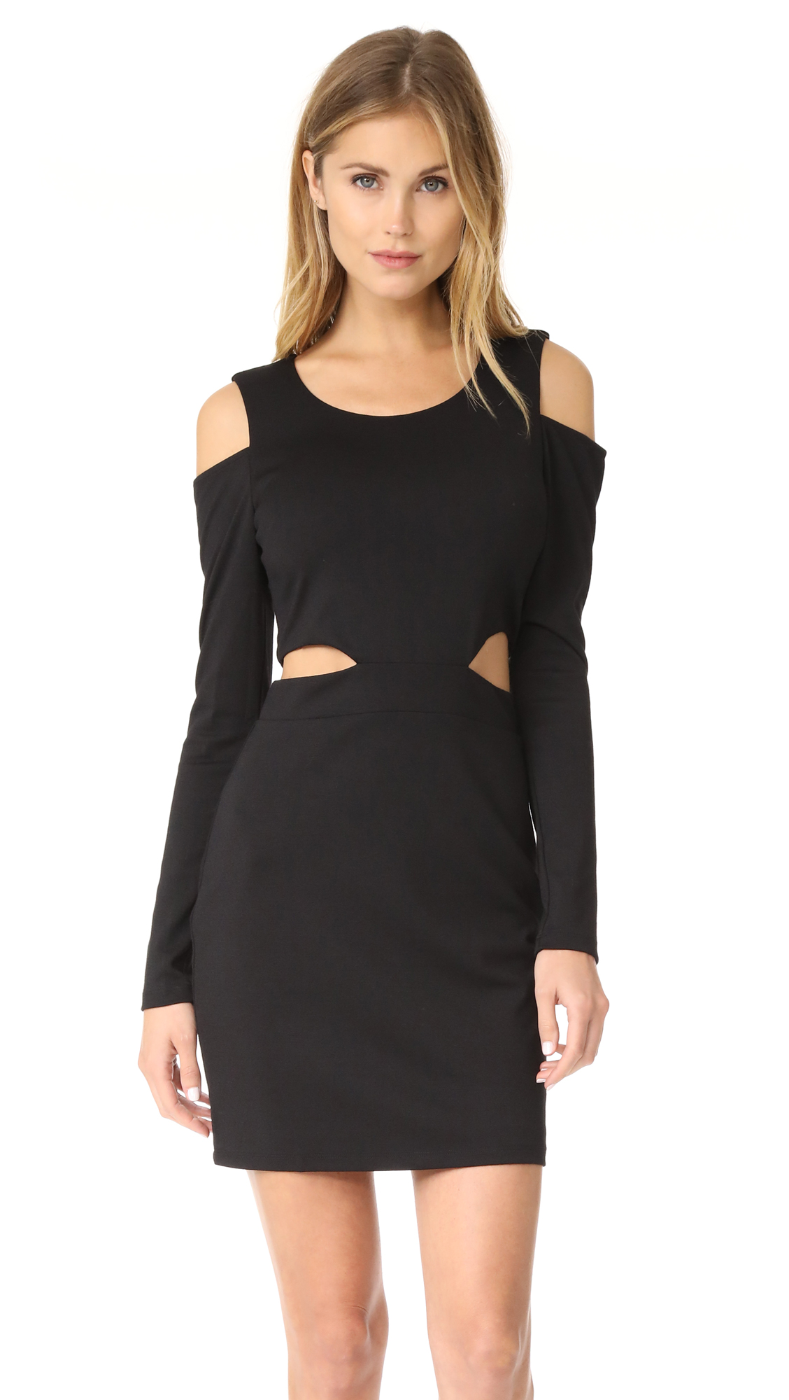 bobi Bobi Black Cutout Dress
