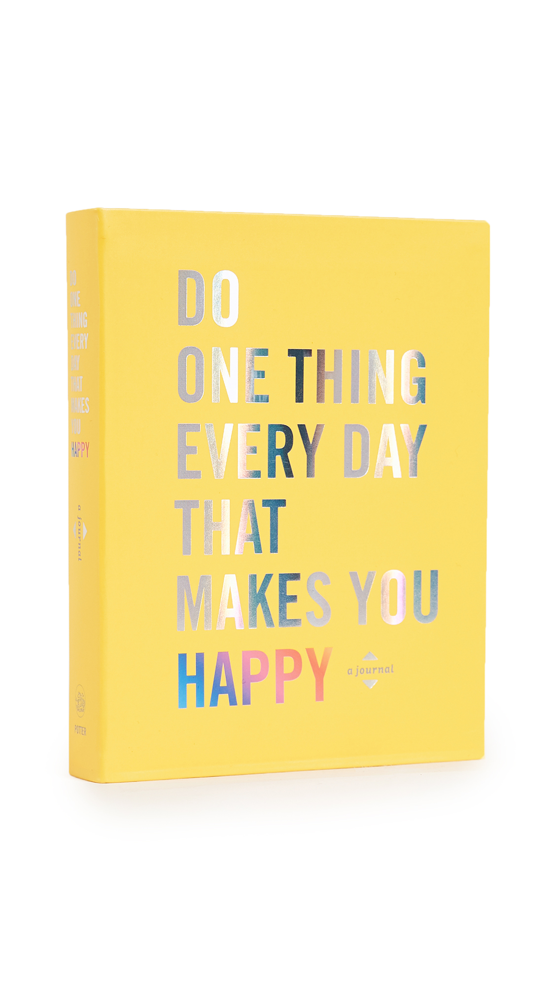 This journal will guide you to look inside and outside yourself to discover and appreciate what makes you happiest. With prompts and exercises, the wise words of writers, musicians, philosophers, and leaders will help you reflect on what fills you with joy. You'll measure your happiness at the outset and along the way; after a year's worth of delight, your smile will be bigger than ever. Imported, China. By Sir John Lubbock. Paperback. Imprint: Clarkson Potter/Publishers. ISBN: 978-0-451-49680-5 Measurements Width: 4.75in / 12cm Height: 1in / 2.5cm Length: 6in / 15cm