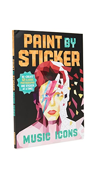Books with Style Paint By Stickers: Music Icons In No Color