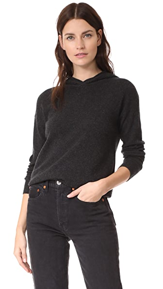 BOP BASICS Cashmere Hoodie in Dark Charcoal