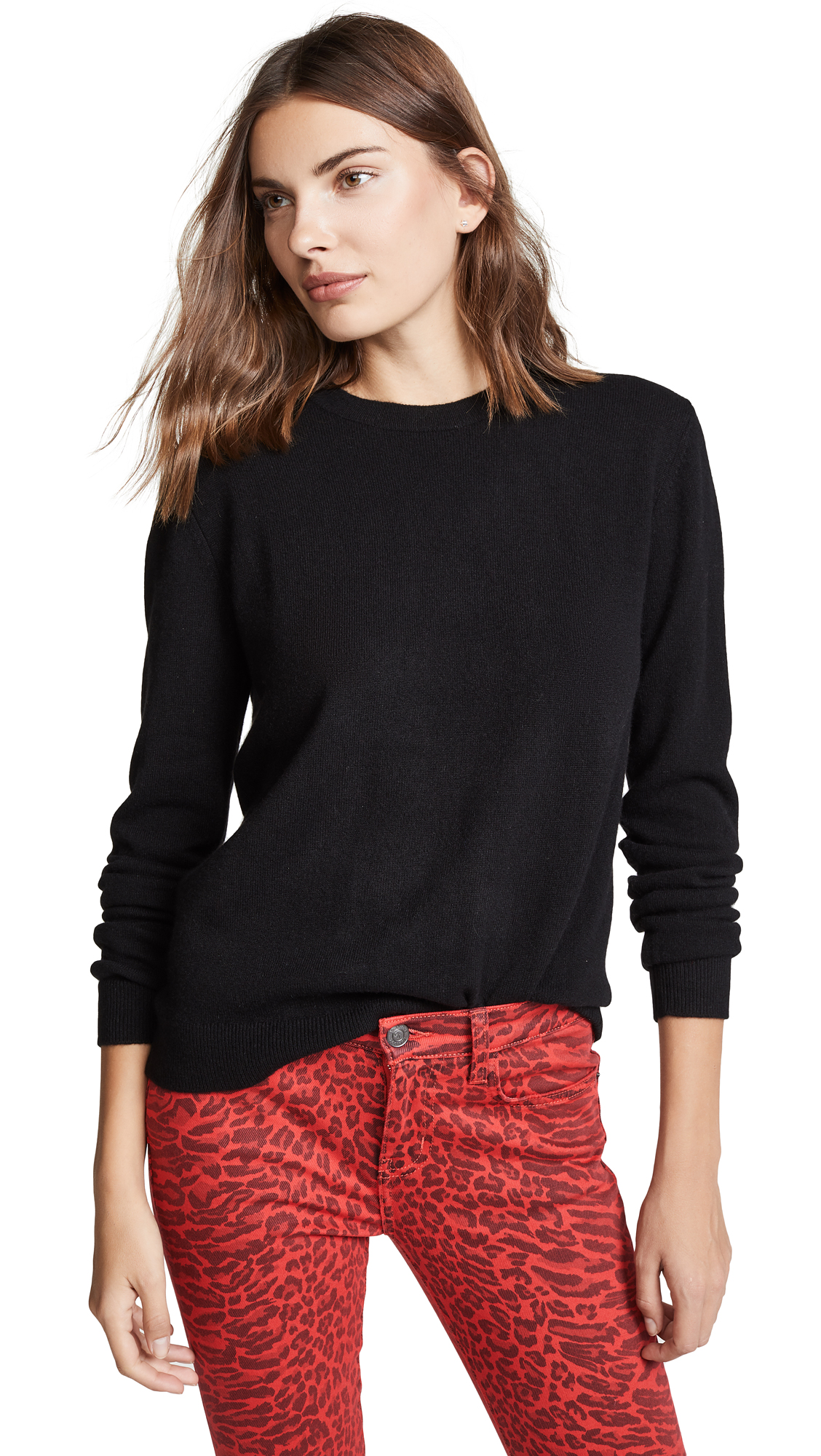 BOP BASICS Boxy Cashmere Sweater in Black