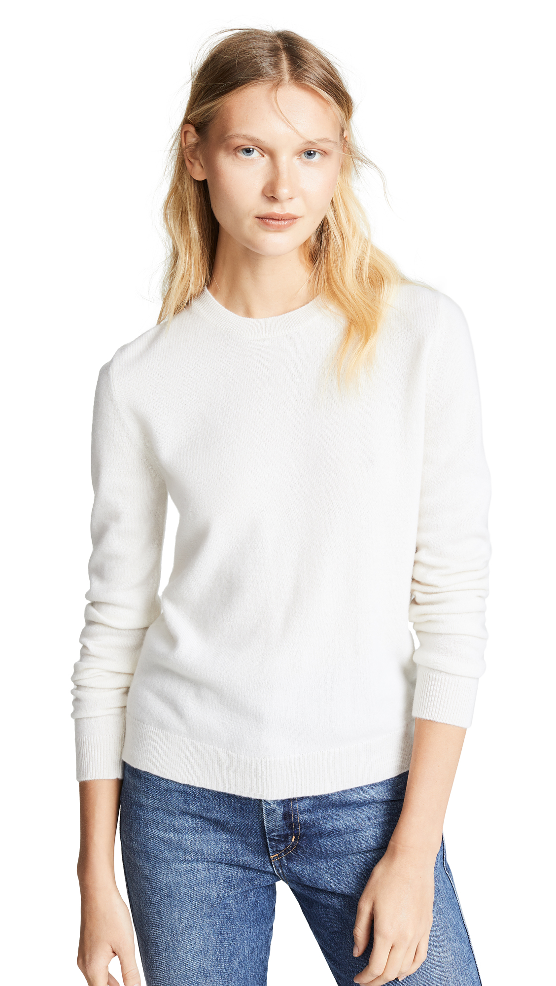 BOP BASICS Boxy Cashmere Sweater in Ivory