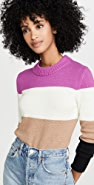 Bop Basics Wide Stripe Roll Neck Sweater