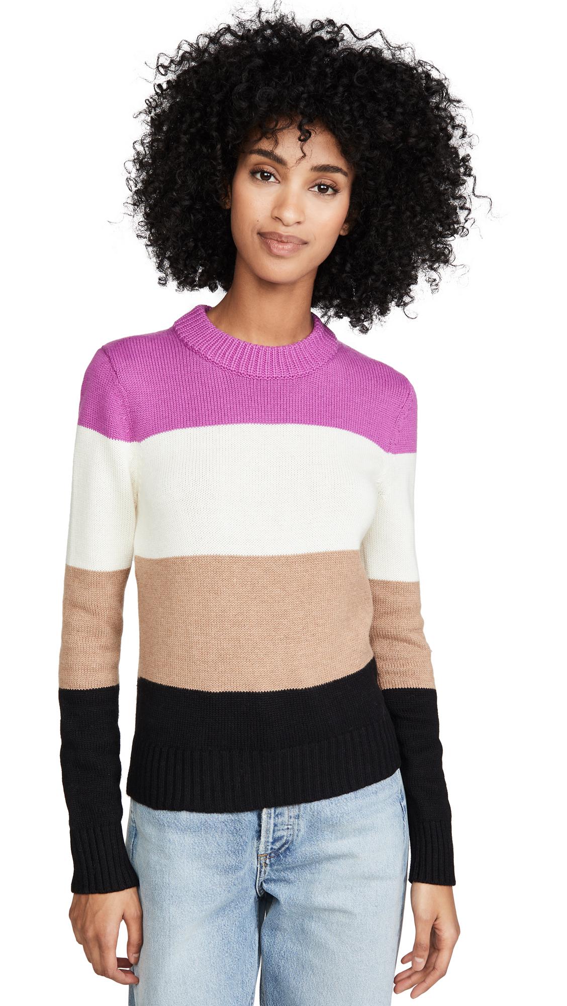 Buy Bop Basics online - photo of Bop Basics Wide Stripe Roll Neck Sweater