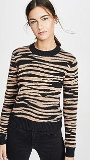 Bop Basics 老虎条纹圆领毛衣