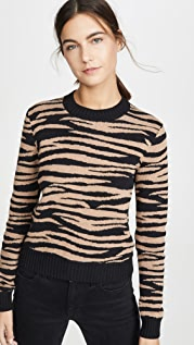 Bop Basics Tiger Stripe Crew Sweater