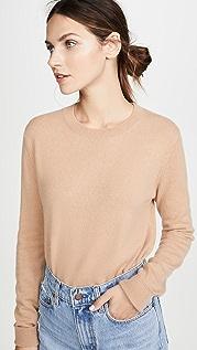 Bop Basics Кашемировый свитер свободного кроя с округлым вырезом