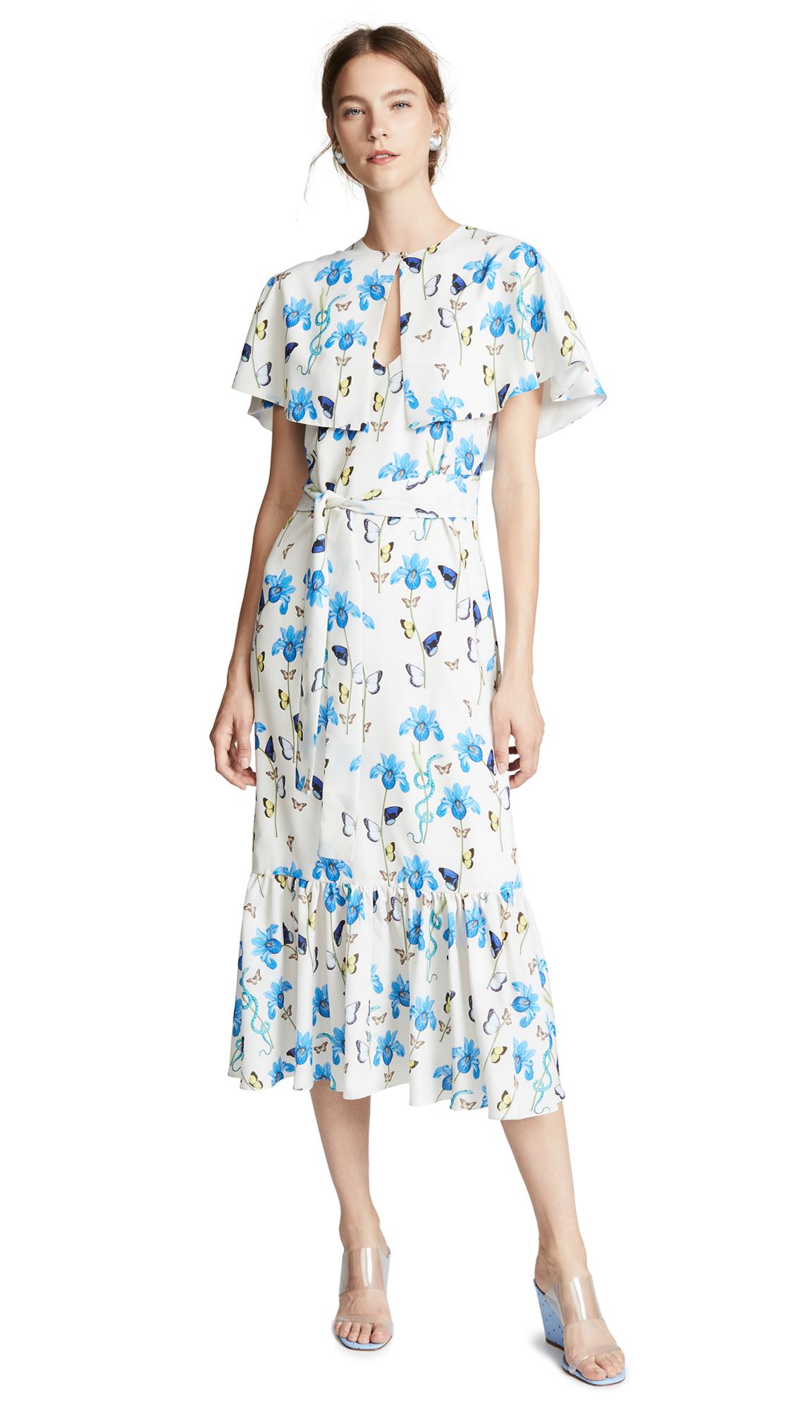 Borgo de Nor Margarita Dress In Iris/White