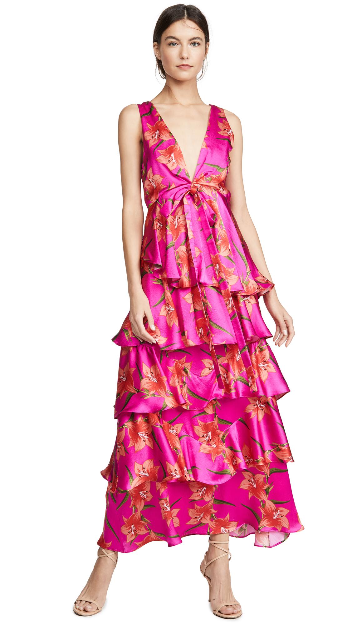 Buy Borgo de Nor online - photo of Borgo de Nor Flavia Silk Dress