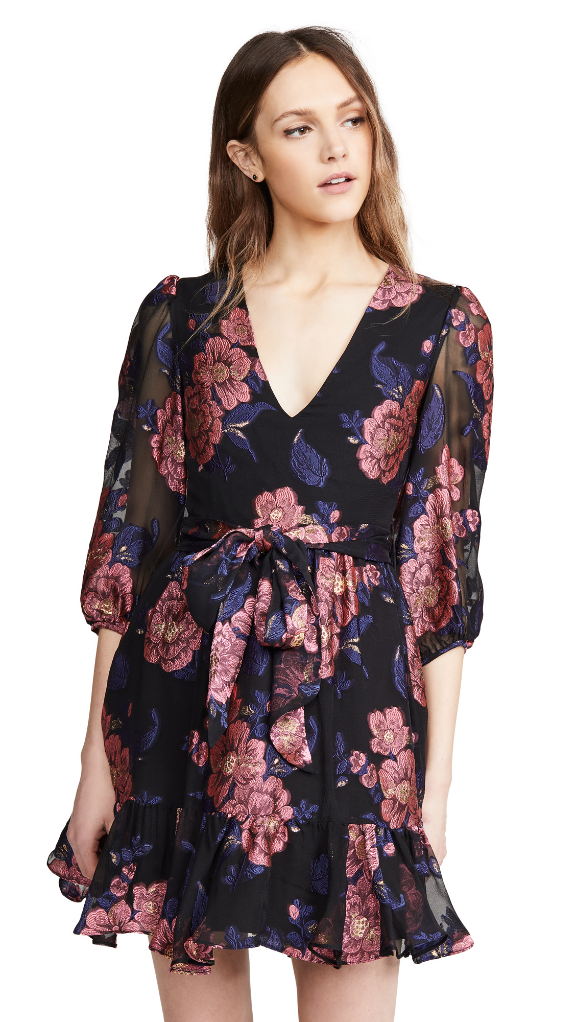 Buy Borgo de Nor Anita Floral Filcoupe Moon Flower Dress online beautiful Borgo de Nor Clothing, Dresses