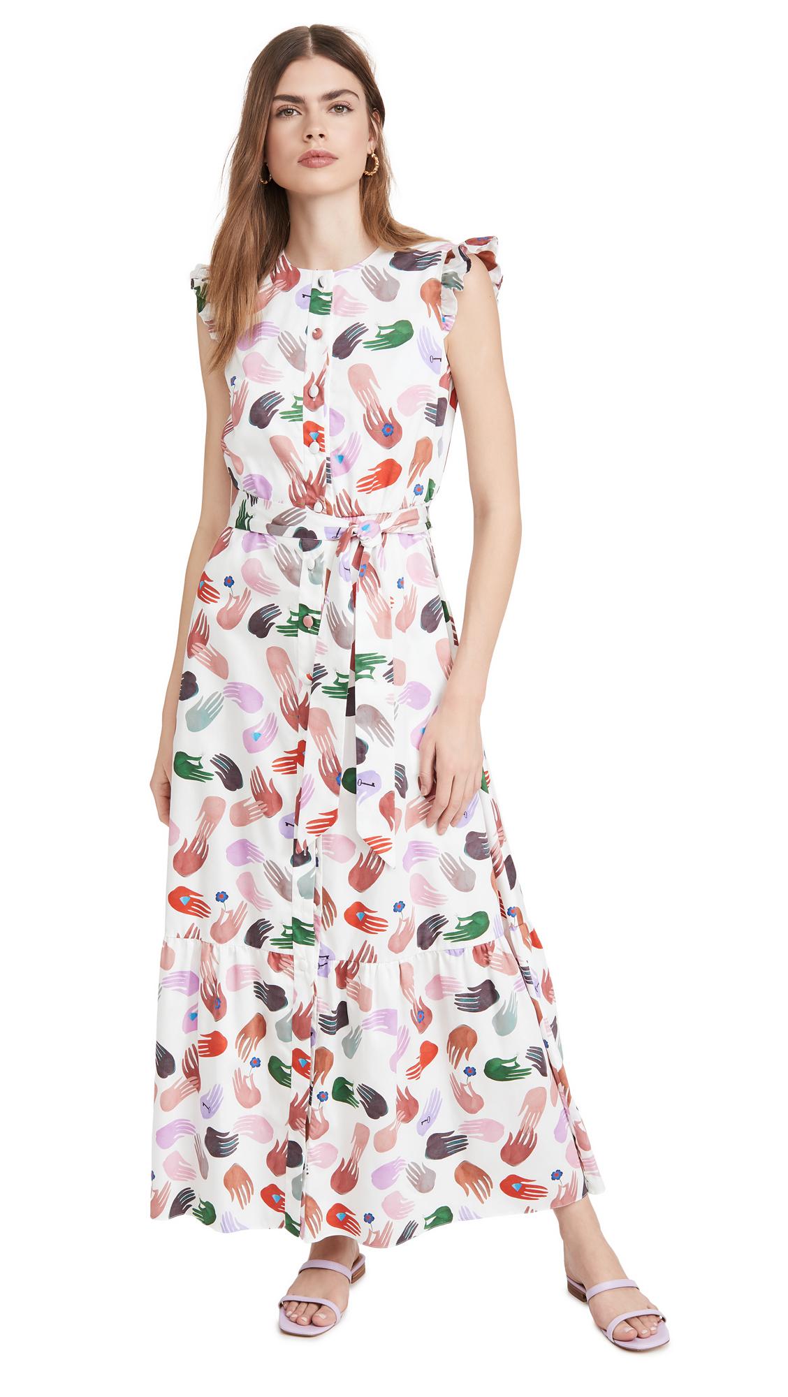 Borgo de Nor Gabrielle Poplin Magic Hand Dress - 40% Off Sale