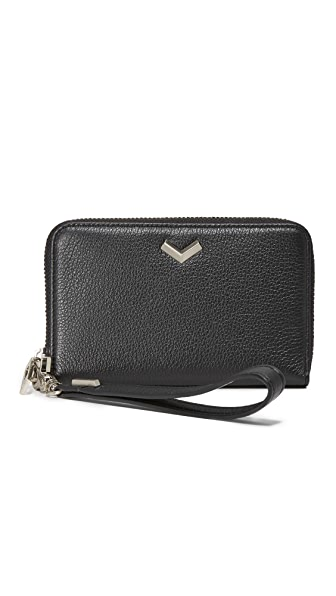 Botkier Soho Small Zip Around Wallet In Black