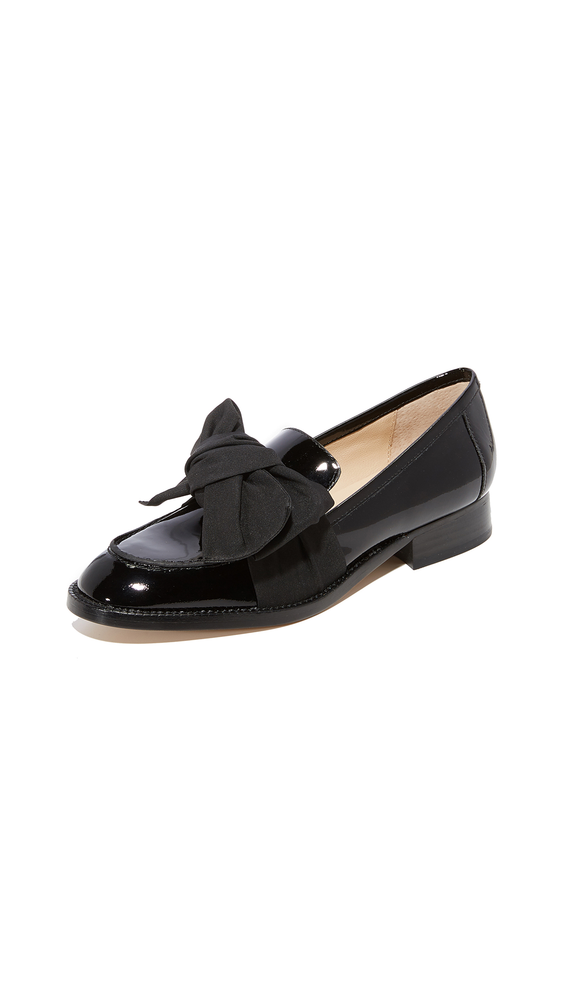 Botkier Violet Bow Loafers - Black